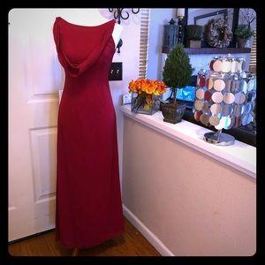 Vintage MichaelAngelo Drape Red Gown